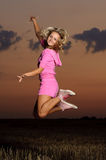 Girl jumping Royalty Free Stock Images