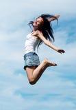 Girl jumping Stock Photos