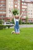 Girl is jumping Royalty Free Stock Photography