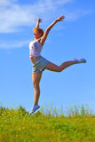 Girl jumping Royalty Free Stock Photography