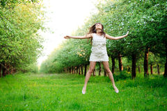 Girl are jumping Royalty Free Stock Images