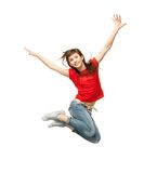 Girl jumping Stock Photo
