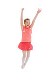 girl jumping arkivbilder