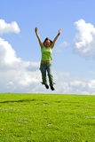 Girl jumping Royalty Free Stock Photo