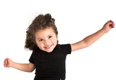 Girl jumping in the air Royalty Free Stock Photo