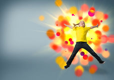 Girl jumping Stock Image