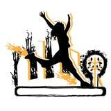 Girl jumping illustration Royalty Free Stock Photos