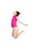 Girl jumping Stock Images