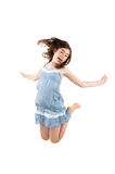 Girl jumping isolated Stock Photography