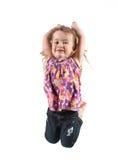 Girl jumping for joy stock photos