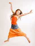 Girl jumping of joy Royalty Free Stock Photo
