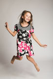 Girl jumping of joy. Little girl jumping of joy Royalty Free Stock Photos