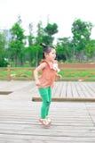 Girl jumping Stock Photo