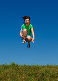 Girl jumping outdoor Royalty Free Stock Photos
