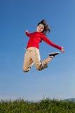 Girl jumping outdoor Royalty Free Stock Photos