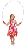 Girl jumping rope Royalty Free Stock Photo