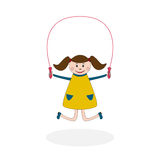 Girl with jumping rope Royalty Free Stock Photo