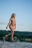 Girl jumping rope Stock Photo