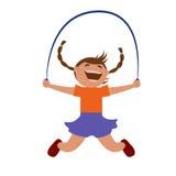 Girl jumping rope. royalty free stock photos