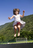Girl jumps Royalty Free Stock Photo