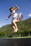 Girl jumps Royalty Free Stock Images