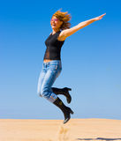 Girl jumps Stock Photos