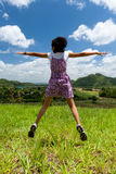 The girl jumps Stock Photography