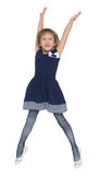 The girl jumps high Royalty Free Stock Photography