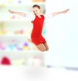 Girl jumps Royalty Free Stock Photo