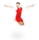 Girl jumps Stock Photo