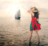 Girl in Jurmala Royalty Free Stock Images