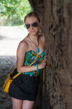 Girl at Kalemegdan Park Fortress Royalty Free Stock Photos