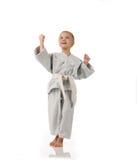Girl - karateka Stock Photos