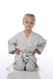 Girl - karateka Stock Photography