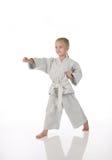 Girl - karateka Royalty Free Stock Image