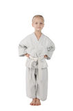 Girl - karateka Royalty Free Stock Image