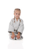 Girl - karateka in kimono Stock Image