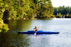 Girl in a kayak Royalty Free Stock Photos