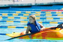 Girl in kayak Stock Photos