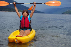 Girl in kayak Royalty Free Stock Photo