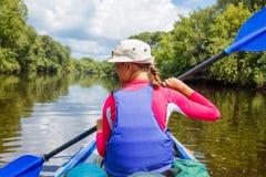 Girl kayaking Royalty Free Stock Images