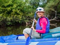 Girl kayaking Royalty Free Stock Photos