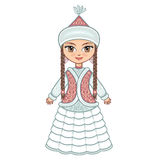 The girl in  Kazakh dress. Historical clothes. Stock Photos