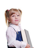 Girl is keeping a book. Royalty Free Stock Image