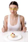 Girl keeping diet Stock Photos