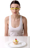 Girl keeping diet Royalty Free Stock Photo