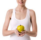 Girl keeping diet Stock Images