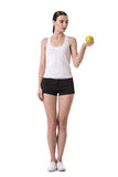 Girl keeping diet Royalty Free Stock Photos