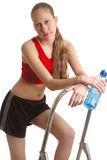 Girl keeping fit Stock Photography
