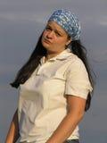Girl with kerchief Stock Photos